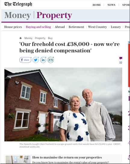 Telegraph Reports Case Of Taylor Wimpey Pensioner Who Has