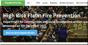 Thanks LKP for raising Grenfell issues. Now we are giving yet more money to LEASE, says housing minister