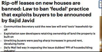 Will Astor 'tried to nobble reform of ground rents', Daily Mail claims