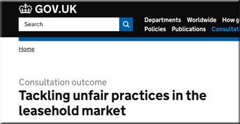 Full government report on 'Tackling unfair practices in the leasehold market'