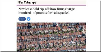 Telegraph reports rip-off leasehold sales packs