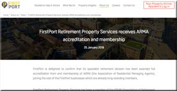 FirstPort Retirement is allowed into ARMA