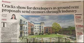 Retirement housebuilders and speculators plead to be allowed ground rents in the Evening Standard