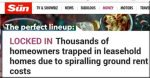 The Sun says … 'thousands trapped in leasehold homes due to spiralling ground rent costs'