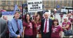 MPs turn out in force to welcome leaseholder demonstrators at Westminster