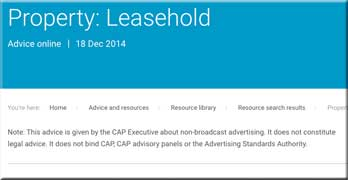 Keep raising leasehold with Advertising Standards Authority