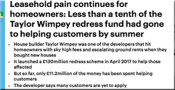 Media coverage of leasehold problems just keeps on growing … Doesn't that tell ministers something?
