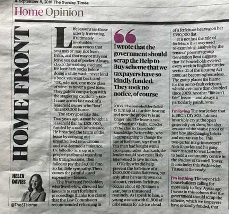 Sunday Times and MoneyWeek reference £600,000 forfeiture case