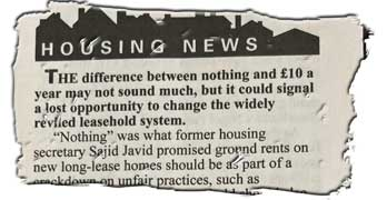 Private Eye warns that Brokenshire's £10 ground rents undermine reform of leasehold