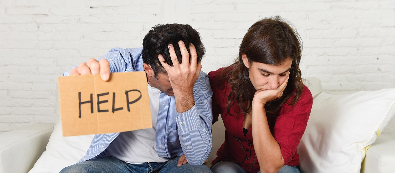 Couple worried about financial stress
