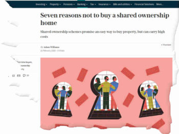 shared ownership price falls