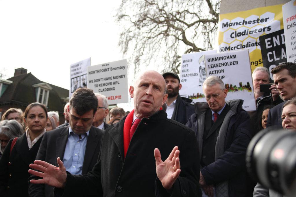 John Healey cladding demonstration