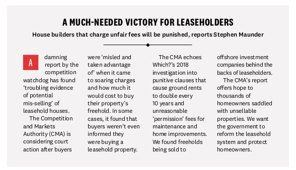 Which? leasehold rubbish report