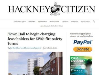 Hackney EWS1 charge