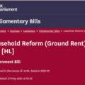 Leasehold Reform (Ground Rent) Bill